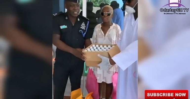 Fella Makafui And Medikal Donate To Ghana Police, Others