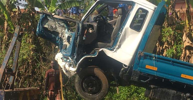 Akyem Manso Accident Kills One Person
