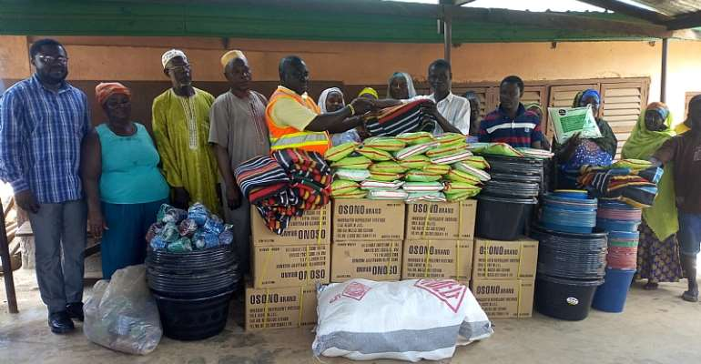 Relief Items Presented To Oda Disaster Victims