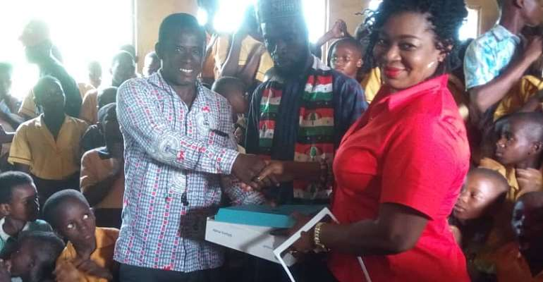 Agona East MP Donates Laptops To Basic Schools In Her Constituency
