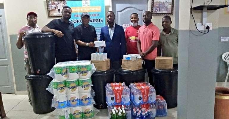 Coronavirus: Black Stars Winger Nana Ampomah Donates To Narh-Bita Hospital To Help End Spread