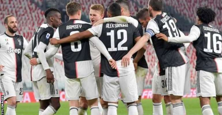 Juventus beat Inter Milan in a match played behind closed doors at the start of March to go top of Serie A