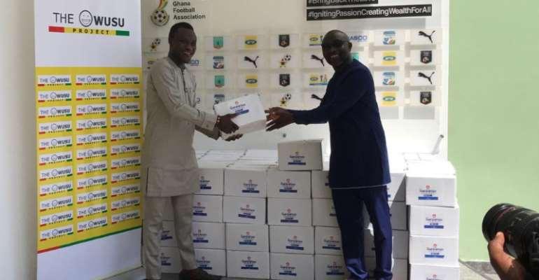 Samuel Owusu Donate 125 Cartons Of Hand Sanitizers To GFA