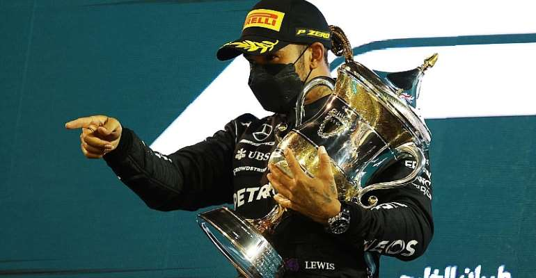 Lewis Hamilton wins in Bahrain after Max Verstappen forced to give up lead