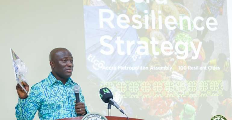 Mayor Sowah, Accra Metropolitan Assembly, And 100 Resilient Cities Unveil Accra's Resilience Strategy