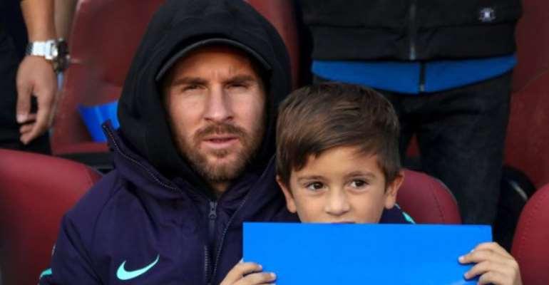 Messi with son Thiago