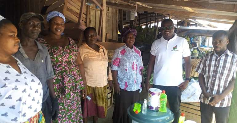 COVID-19: NDC PC For Anyaa-Sowutuom Donates To Markets & Lorry Stations