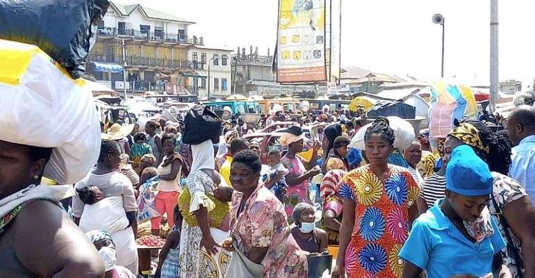 Panic Buying, Food Price Hikes, Human And Vehicular Traffic Hit Kumasi