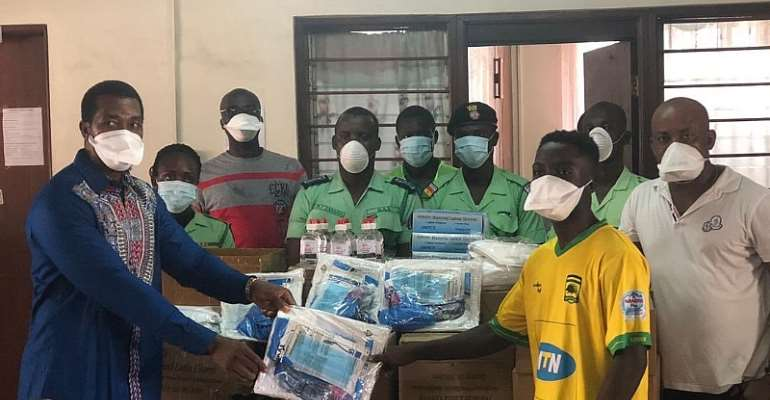 Covid-19: Anim Addo And Mathew Cudjoe Donate Medical Equipments To CLOGSAG Polyclinic