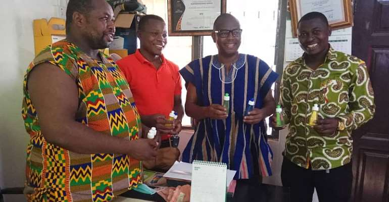 Chairman Samba Donates Hand Sanitizers To Security Services And Beggars In Tamale