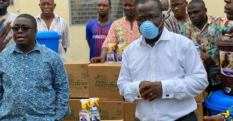 Covid-19: Former BOST MD Alfred Obeng Donates To Bibiani-Anhwiaso-Bekwai Constituency