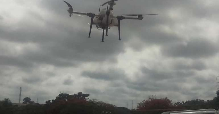 Coronavirus: Drones Spray Markets In Bono Regions