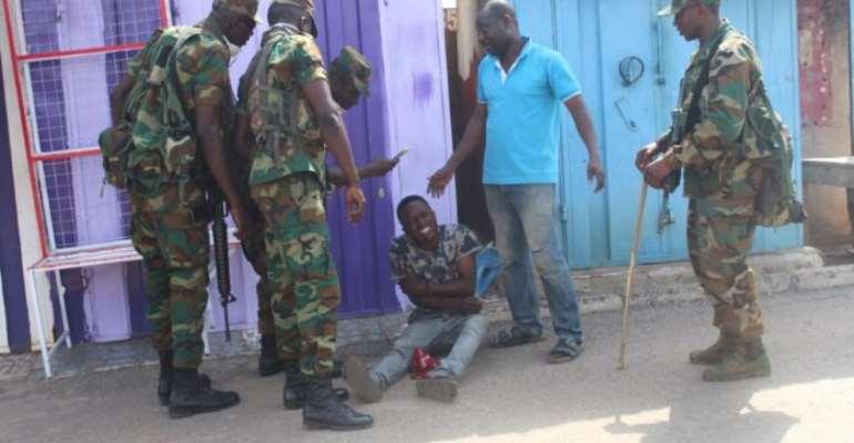 Covid-19: Deviant Traders Infuriate Military In Kumasi