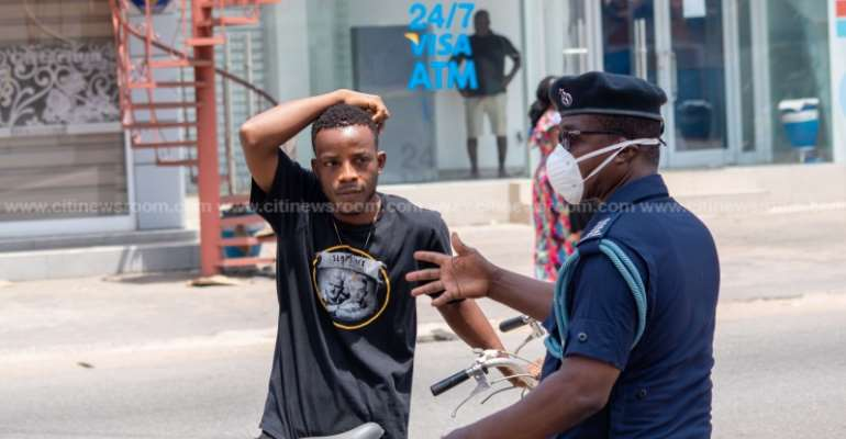 Covid-19 Lockdown: More Padlocks Than People In Accra [Photos]