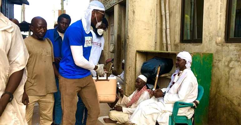 Stacy Foundation Shares Hand Sanitizers To The Less Privileged On The Streets Of Accra