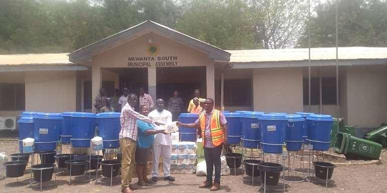 Covid-19: Zoomlion Donates To Nkwanta South Municipal Assembly