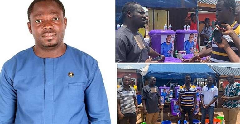 Covid-19: MP Aspirant Eric Amofa Donates Sanitizers, Others To Juaso Residents