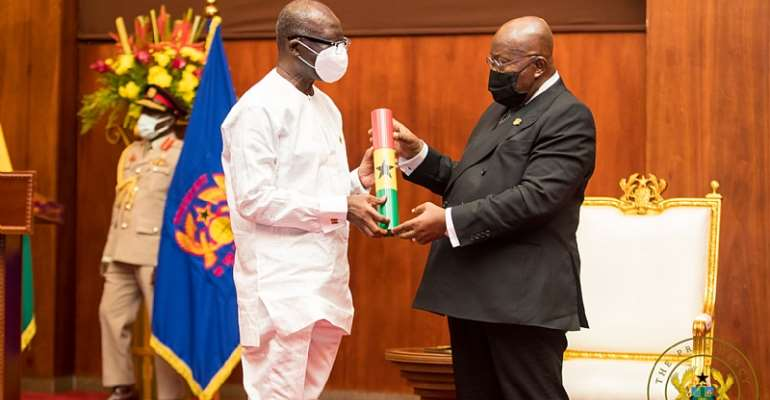 Ofori Atta charged to put Ghana's economy back on track after swearing-in