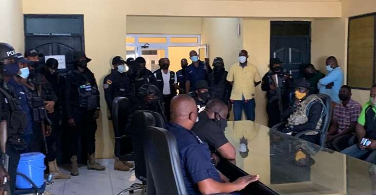 Accra: 51 arrested in random swoops after robbers attack bullion van at Baatsona