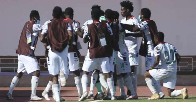 Black Satellites celebrate against Gambia