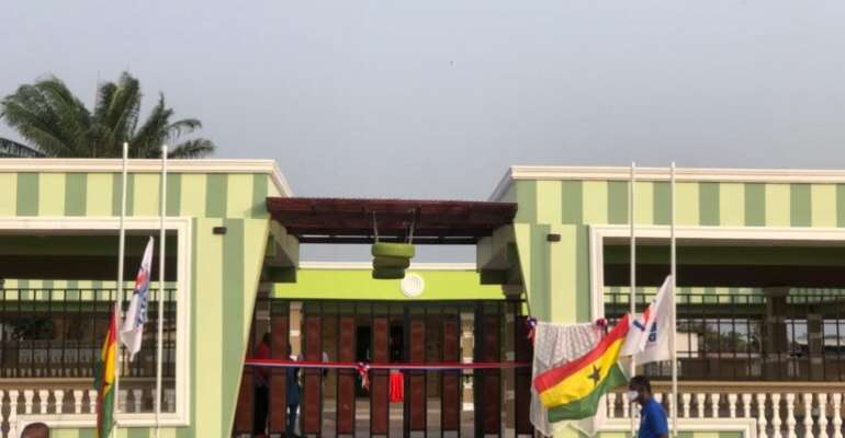 Afenyo-Markin Commissions 2 projects; cuts sod for Library and ICT Center