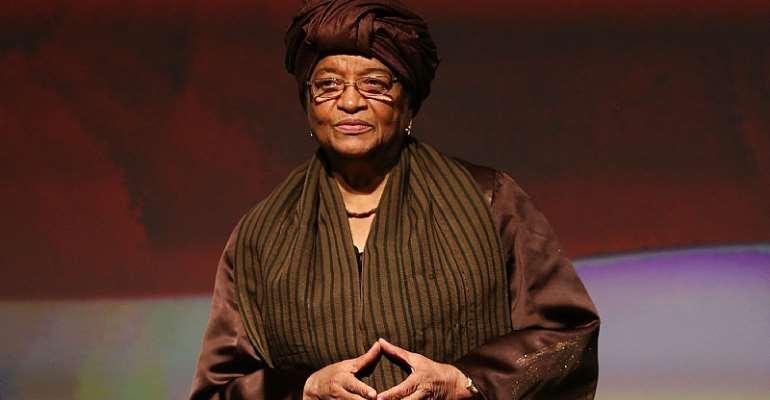 Liberia's former President and Africa's first female President, Ellen Johnson-Sirleaf