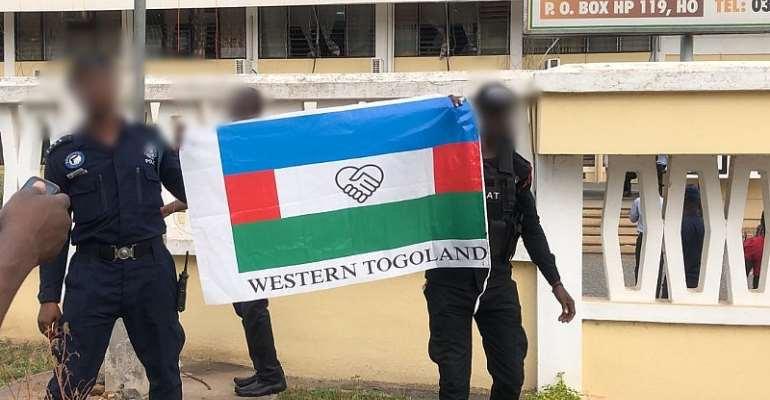 Papavi Boys Hoist Western Togoland Flag At Volta Regional Minister's Office