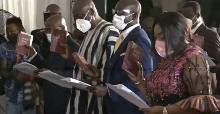 Akufo-Addo swears in 28 new ministers