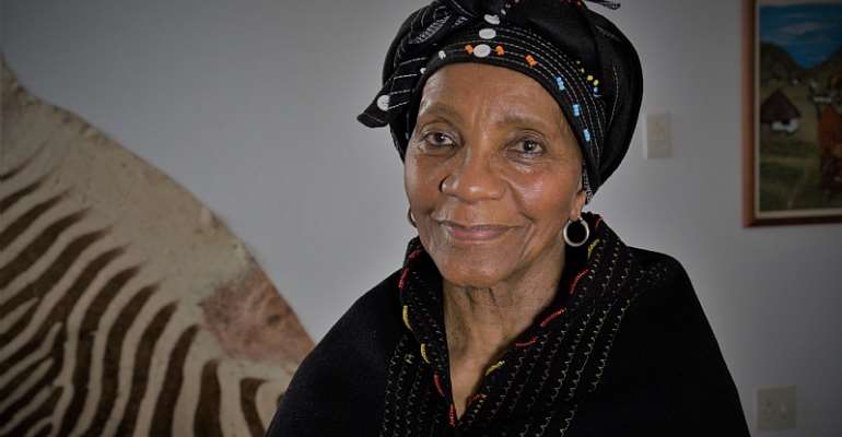 Sindiwe Magona at home. - Source: © Bjorn Rudner/Courtesy Sindiwe Magona
