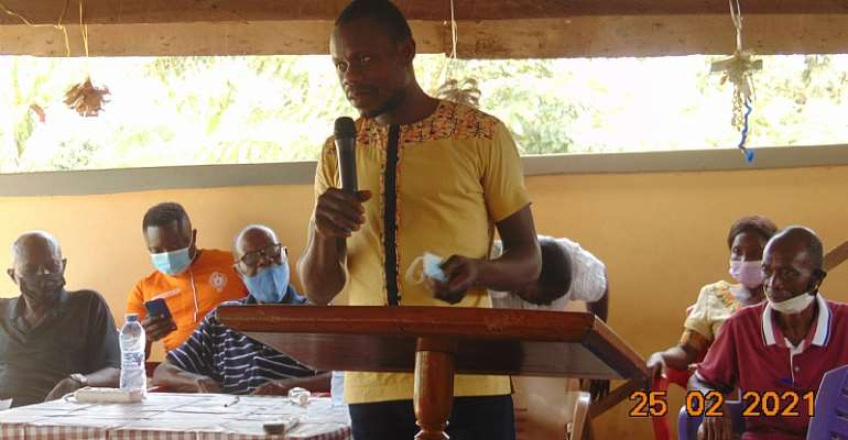 Hohoe-Kpeve Cocoa District organizes Cocoa Farmer Rally on environment, child labour and gender issues at Nkonya Wurupong