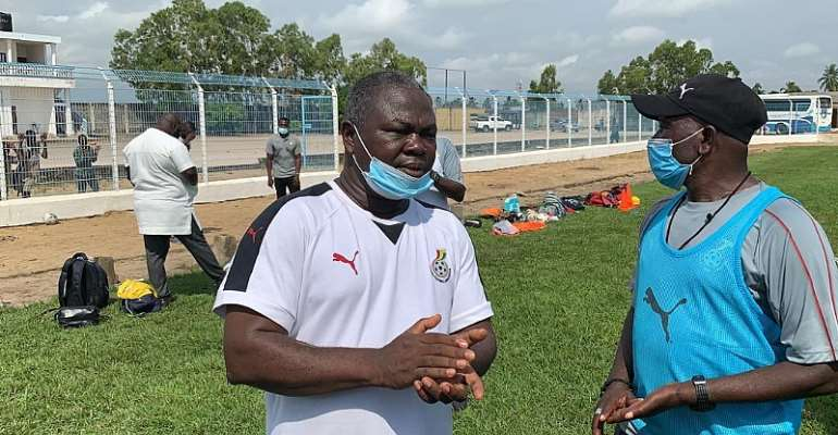 Albert Commey [Left] with Black Satellites head coach Karim Zito [Right]
