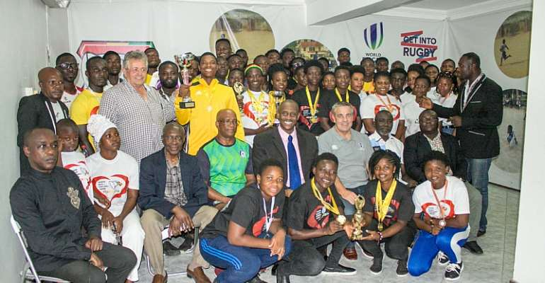 World Rugby Dignitary Presents Ghana Rugby Championship Awards