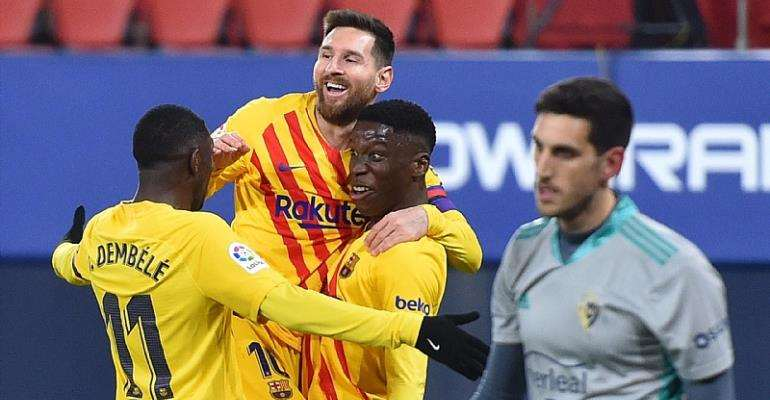 Messi star for Barcelona in win at Osasuna ahead of crucial PSG meeting