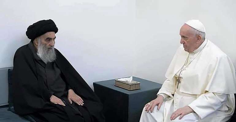 Ayatollah Sistani promises Pope Francis peace and security for Iraqi Christians