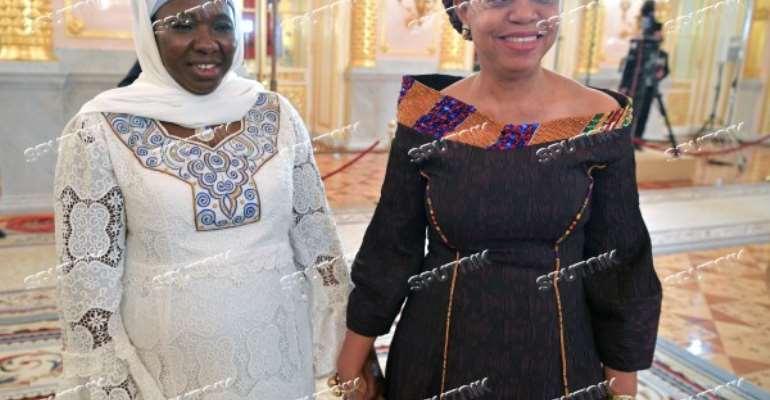 Female Ambassadors from Gambia and Ghana