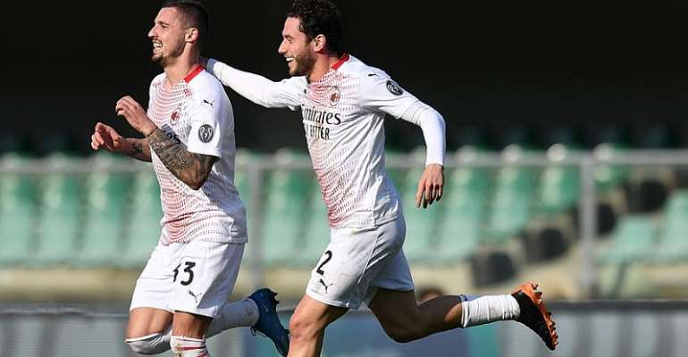 Serie A:  AC Milan closes gap on Inter with comfortable win at Verona
