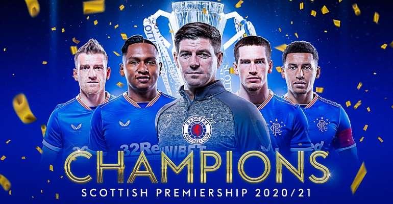 Gerrard's Rangers win first Scottish top-flight title in 10 years