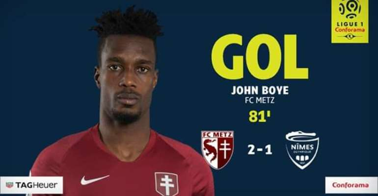 John Boye Propels FC Metz To Victory Against Nîmes In French Ligue 1