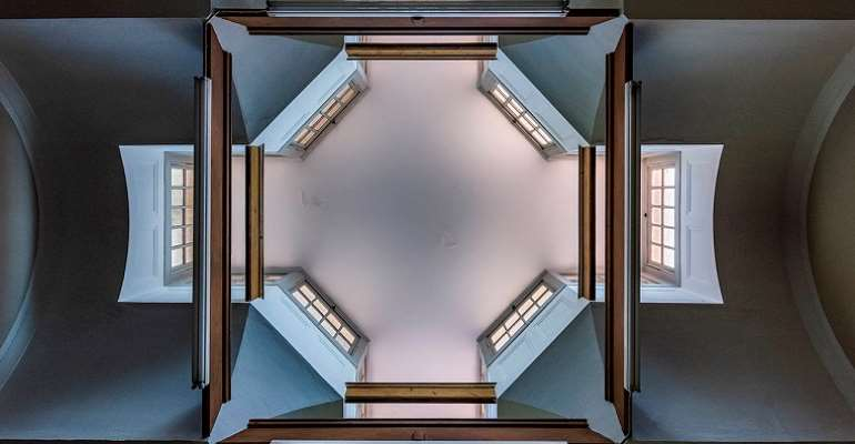 The skylight of the Weskoppies Chapel in Pretoria.  - Source: Alain Proust/Hidden Pretoria