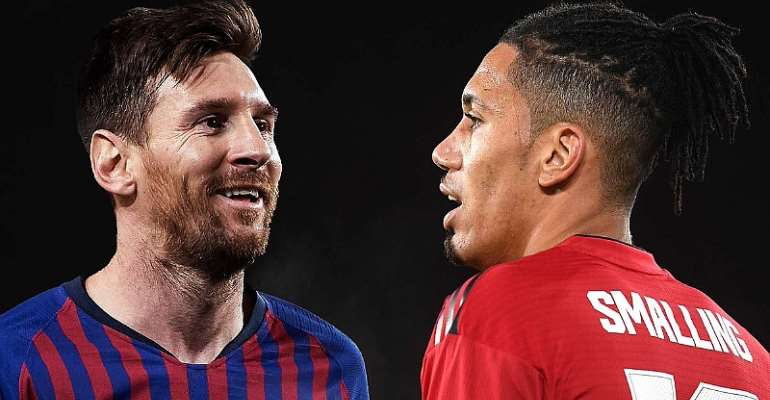 Lionel Messi and Chris Smalling