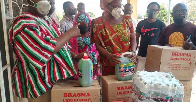 Sissala West NDC Parliamentary Candidate Donates Items To The District Health Directorate As Part Of Fight Against COVID-19