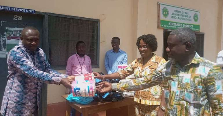 Martin Luther Health Training School donates PPEs to Ghana Health Service, others