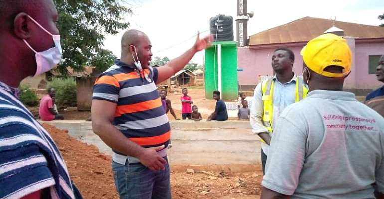Atwima Mponua MP inspects ongoing projects in Constituency