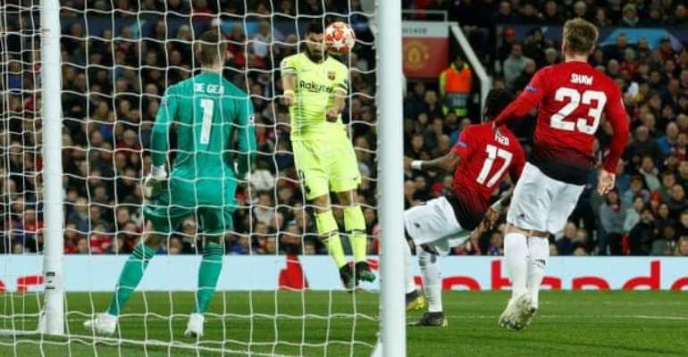 Shaw Own Goal Gives Barcelona Advantage Over Man Utd
