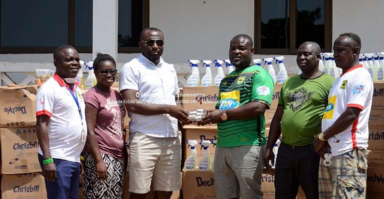 Kotoko NCC Donates GH¢10,000, Hand Sanitizers To Help Club Fight Covid-19