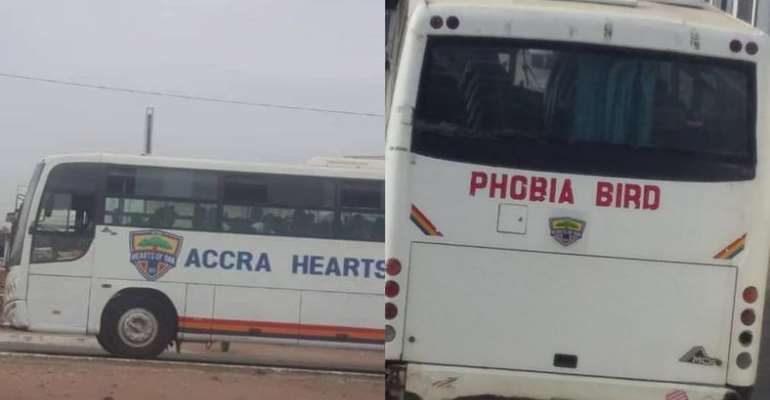 Hearts of Oak Team Bus Causes Confusion On On Social Media