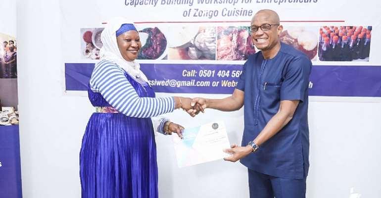"Beneficiaries Of ""Zongo Cuisine Promotion Workshop"" Receive Certificates"