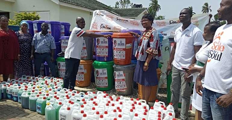 COVID-19: Hon. Atta Akyea, Pinamaa Foundation Support Abuakwa South Municipal Health Directorate