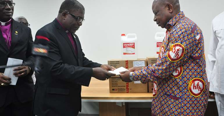COVID-19: The Methodist Church Ghana Donates To Government And Health Agencies