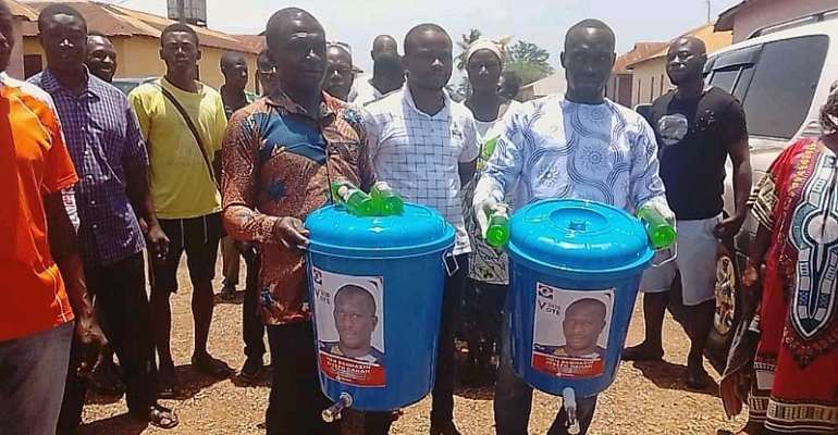 GHC150 COVID-19 Donations By MP to Constituency: Only In Ahafo